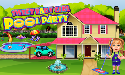 Sweet Baby Girl Pool Party Games: Summer Pool Fun 1 8
