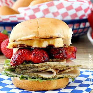 Turkey Strawberry Brie Sandwich.
