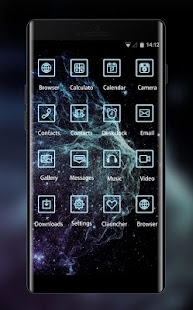 Fantasy Nebula Theme Space Live Wallpaper - náhled