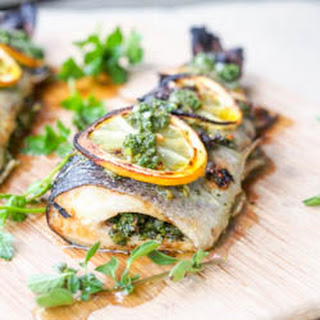 Broiled Parsley and Oregano Trout