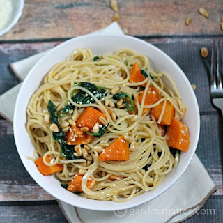 Butternut Squash Pasta Recipe with Baby Greens