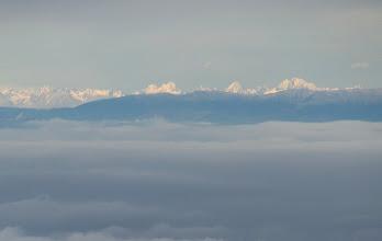 Photo: Im Nordosten war der Kamm der hohen Tatra zu sehen