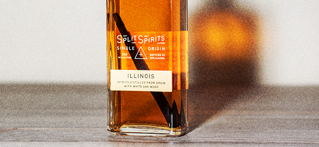 A Bottle Of Split Spirits Illinois White Oak