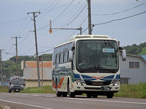 沿岸バス「特急はぼろ号」 ・399 上平バス停にて