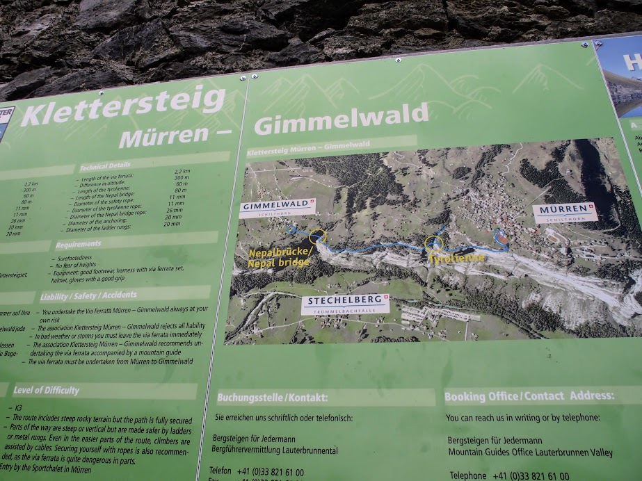 The Murren - Gimmelwald Klettersteig