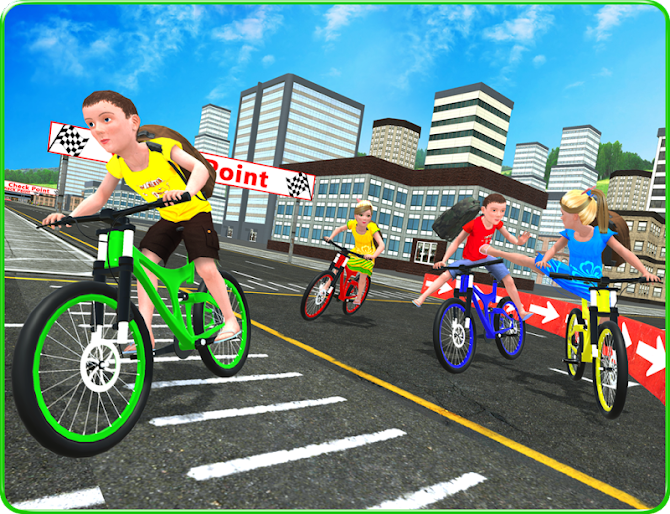 Kids School Time Bicycle Race Android 7