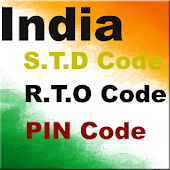 India STD,RTO and PIN Code