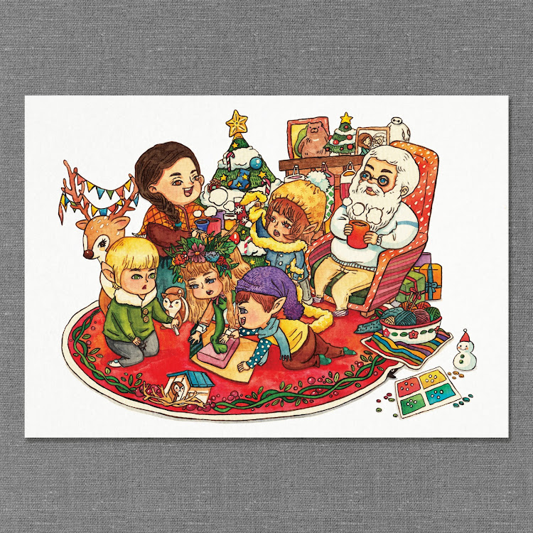 A2 Paper Print【Wrapping Present】 by Jeovine