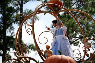 Photo: There's Cinderella aboard her pumpkin (sort of) in the Celebrate a  Dream Come True Parade in the Magic Kingdom.