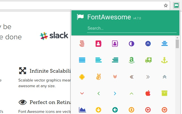 font awesome 4 7 0 icon