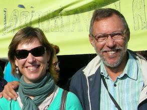 Photo: Amelia e Ignacio en la manifestación del 22 de octubre de 2011 en favor de la Educación Pública. Fuimos desde Atocha hasta Sol junto a miles de manifestantes.