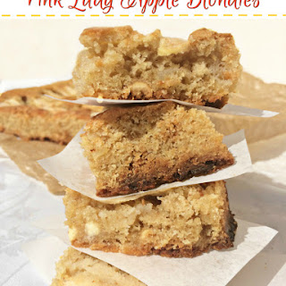 Pink Lady Apple Blondies Recipe