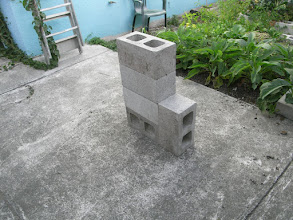 Photo: Implementation: Block 4. Second chimney block