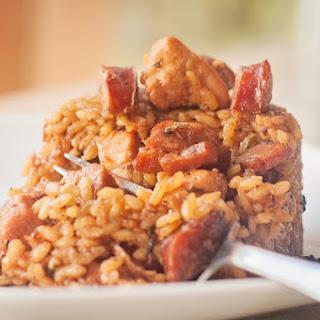 Cajun Jambalaya with Chicken, Sausage & Ham