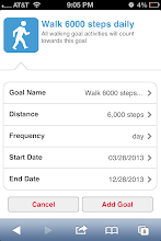 Photo: Add your daily goals. I started with the smallest option of 6000 steps a day.