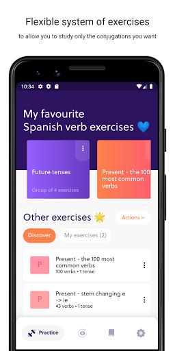 Spanish Verb Trainer: Learn verb conjugations screenshot 1