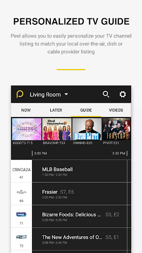 Peel Smart Remote TV Guide screenshot 4