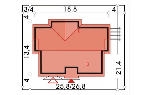 Agat wersja B dach 32 stopnie - Sytuacja