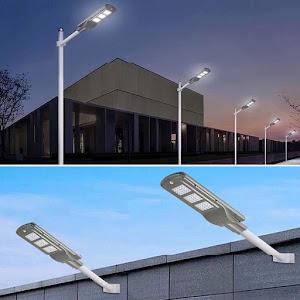 Lampa stradala 90W cu panou solar, acumulator, senzor de prezenta