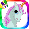 Unicorns and ponies to paint icon