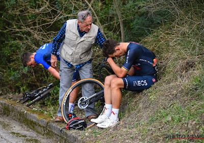 """Deceuninck-Quick.Step en Ineos delen in de klappen bij valpartijen in Trofeo Laigueglia: """"Hopelijk niets gebroken"""""""