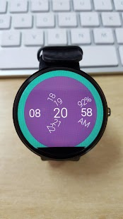 Digital Round Watch Face screenshot