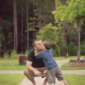 Father and son by Molly Kat - People Couples