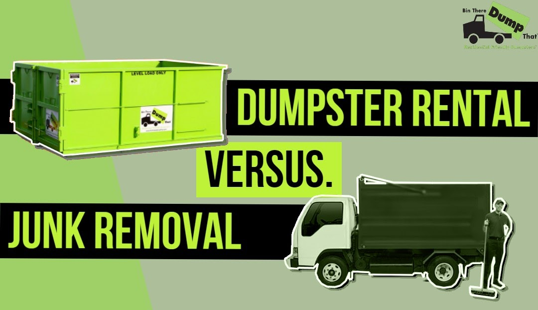 junk removal and dumpster rental for waste disposal project