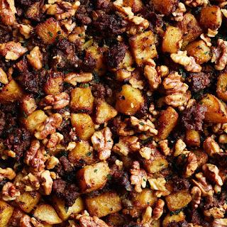 Pork Walnut Stuffing with Squash and Sage
