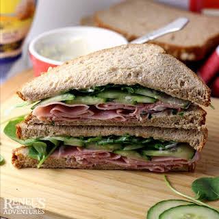 Ham, Cucumber and Watercress Sandwiches.