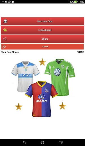 クイズサッカーシャツ