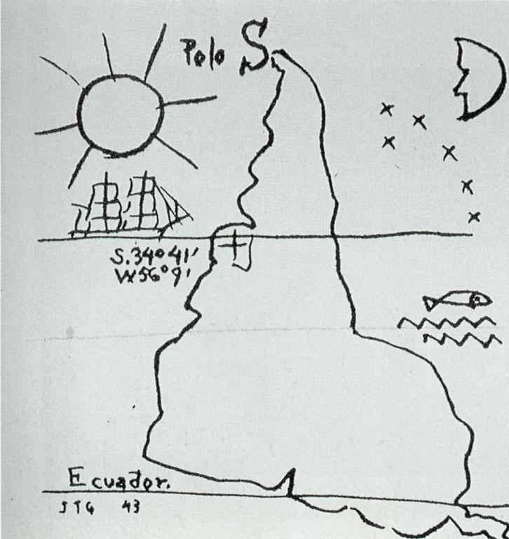 """Joaquim Torres Garcia, """"América Invertida"""", 1943."""
