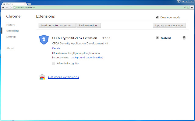 CFCA CryptoKit.ZCSY Extension