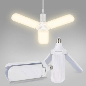 , Lampa LED cu 3 brate mobile ajustabile, E27 6500K 45W, Warm White