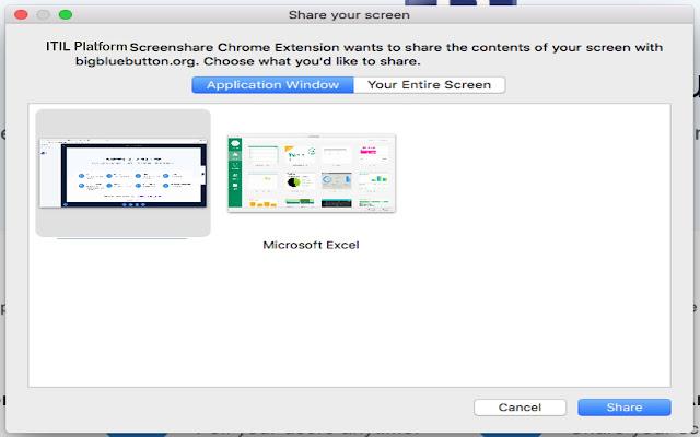 ITIL Platform Screenshare Extension