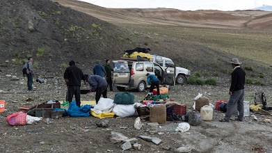 Photo: We pack to head back to Leh after our sucessful trek-climb - Thanks Pasang and Dawa (drivers) and the superstar crew.