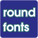 Round fonts for FlipFont icon