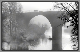 Photo: Walking with a dog over the medieval bridge of my town,in a foggy day. My contribution to: #filmnoirfriday by +Thorn Button+Paul Wright+Kel Hayner #monochrome  #foggyfriday  by +Peter From #plusphotoextract by +Jarek Klimek #breakfastclub by +Gemma Costa