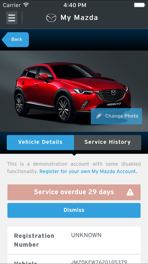 My Mazda- screenshot