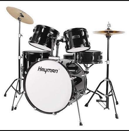 Hayman HM-100 Komplett nybörjartrumset - Svart