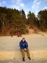 Photo: Sunset at Beaver Creek beach with Andy.