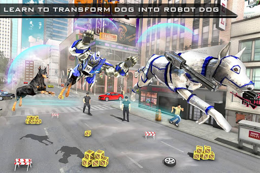 US Police Robot Dog - Police Plane Transporter 1.1 screenshots 11