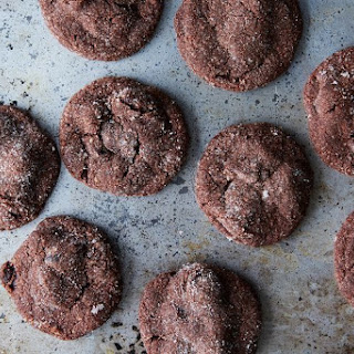 Soft Chocolate Almond Cherry Cookies.