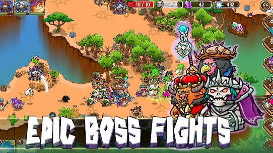 Crazy Defense Heroes Tower Defense Strategy TD 1.9.4 MOD (Unlimited Energy + Gold Coins + Diamonds) 5