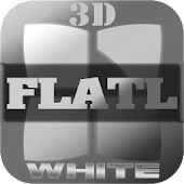 Next Launcher Theme FlatLWhite