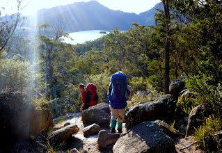 Photo: Descending to Wineglass Bay...