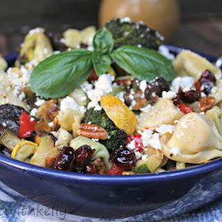 Roasted Summer Veggie Tortellini Pasta Salad