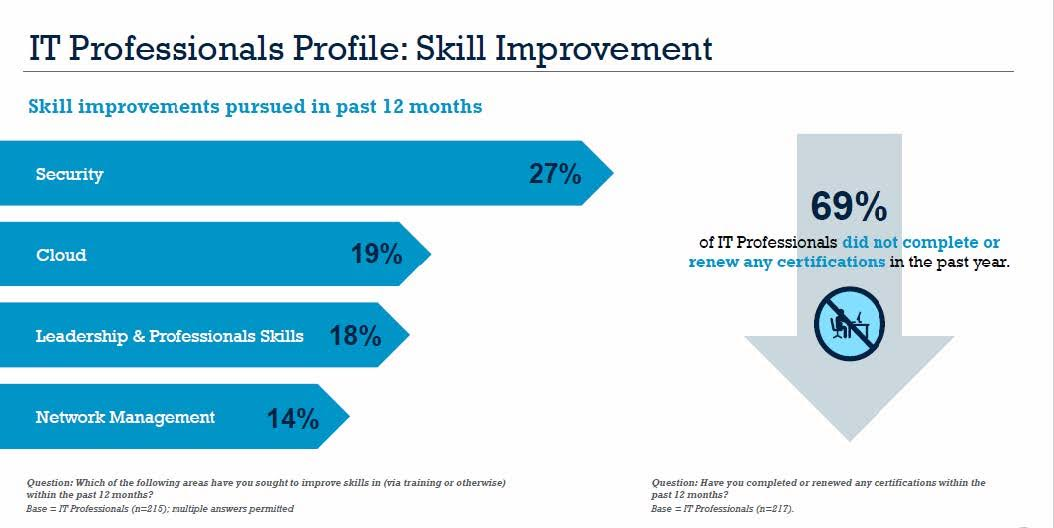 IT Professionals Profile: Skill Improvement. Source: Informa Engage