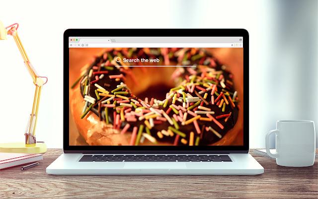 Donuts New Tab Food Theme