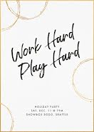 Work Hard & Play Hard - Christmas Card item